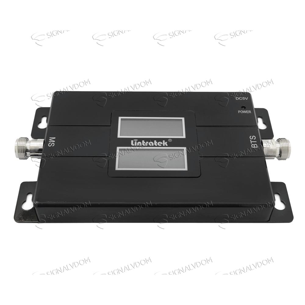 Усилитель сигнала Lintratek 17L 900/1800 mHz (для 2G/4G) 65 dBi, кабель 10 м., комплект - 2