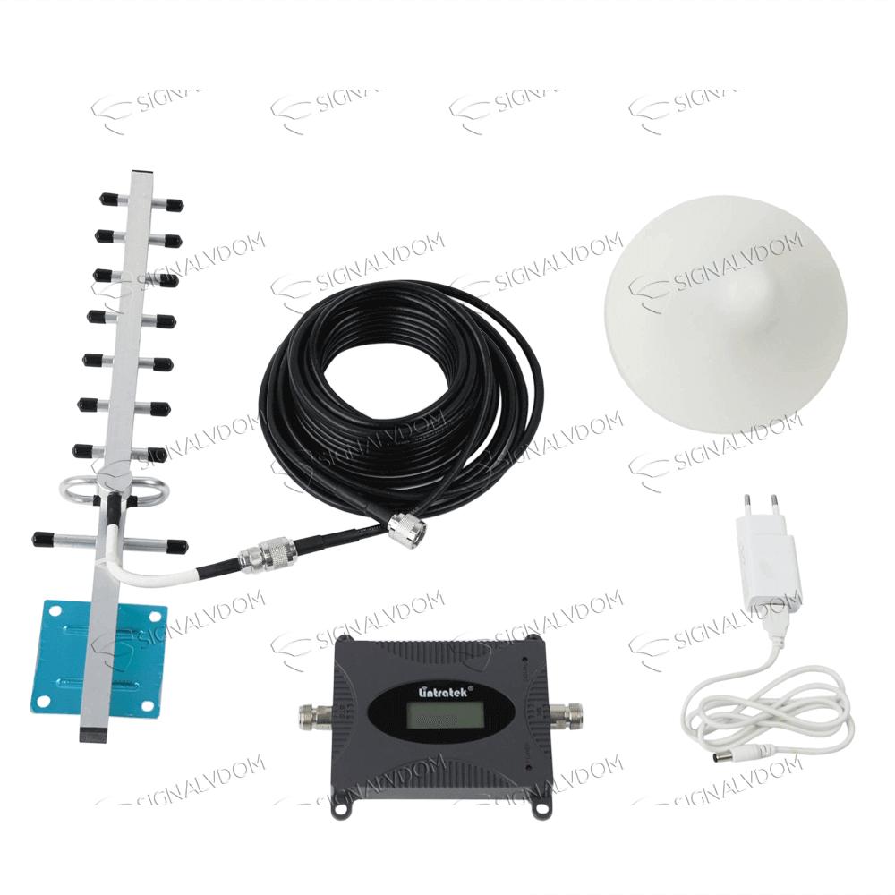 Усилитель сигнала Lintratek 1800 mHz (для 2G/4G) 65 dBi, кабель 10 м., комплект