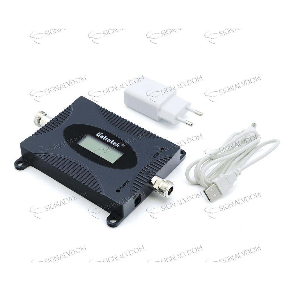 Усилитель сигнала Lintratek 1800 mHz (для 2G/4G) 65 dBi, кабель 10 м., комплект - 4