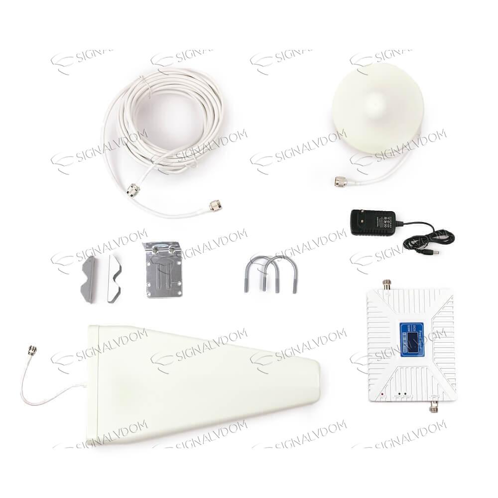 Усилитель сигнала Power Signal Dual Band 900/1800 MHz (для 2G, 3G, 4G) 70 dBi, кабель 15 м., комплект